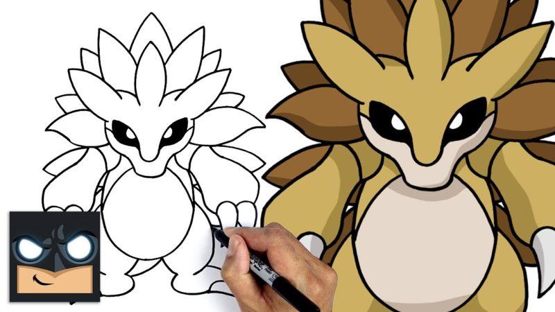 Jak narysować Sandslash of Pokemon