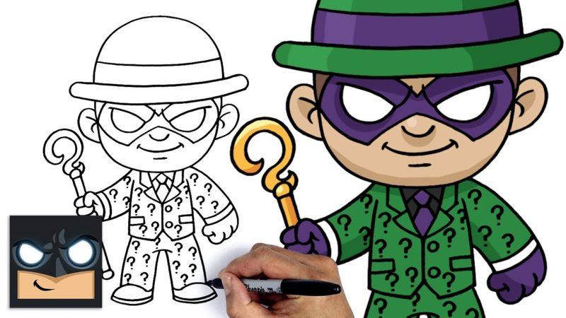 如何绘制谜语蝙蝠侠的敌人