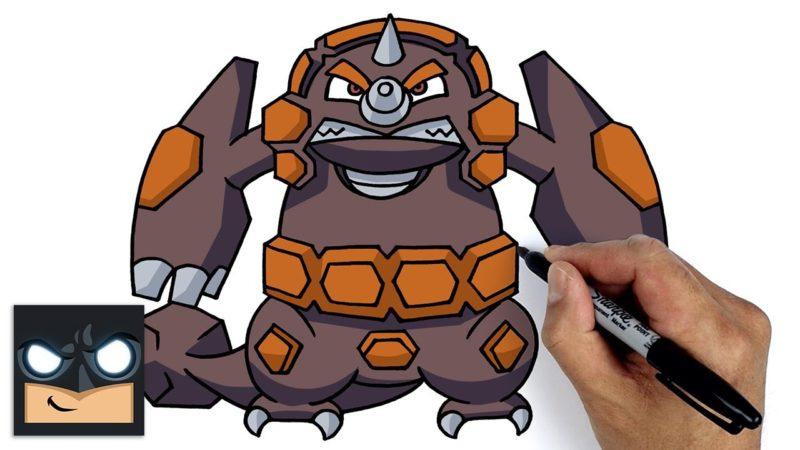 Cómo dibujar a Rhyperior de Pokémon