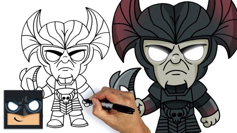 Como desenhar Steppenwolf da Liga da Justiça