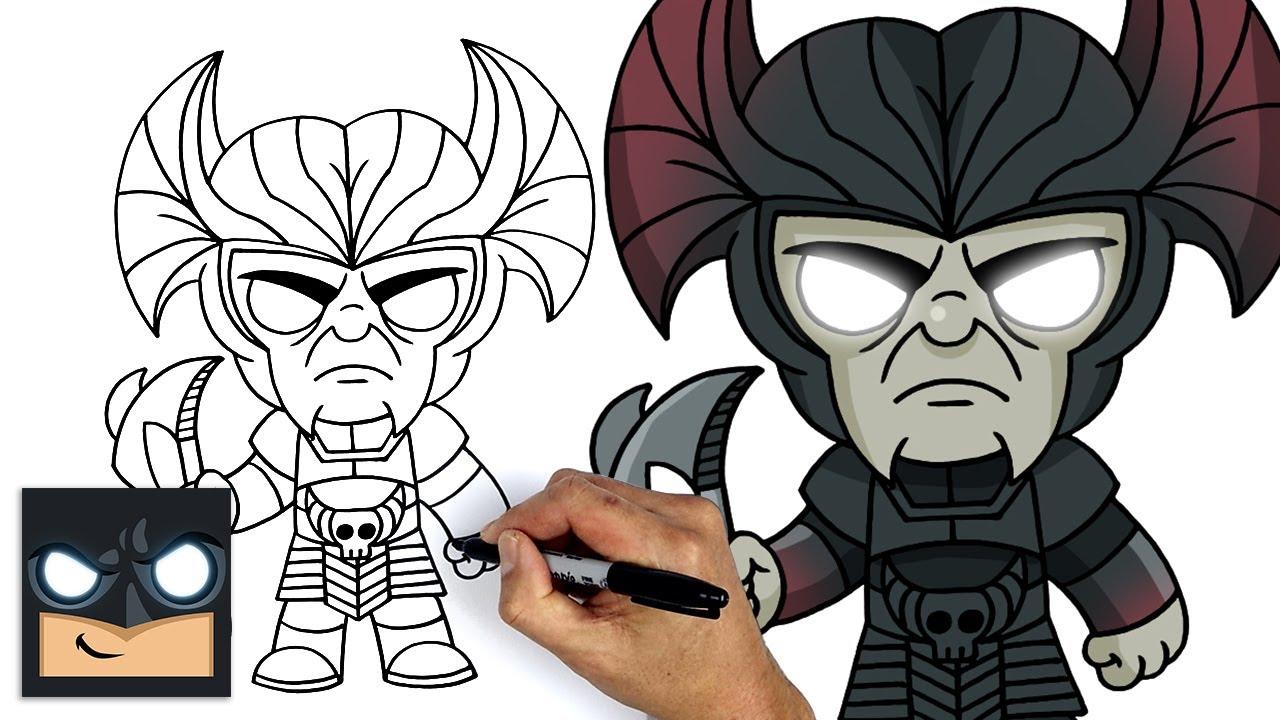 Come disegnare Steppenwolf della Justice League