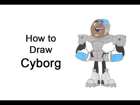 Cómo dibujar Cyborg (Teen Titans Go!)