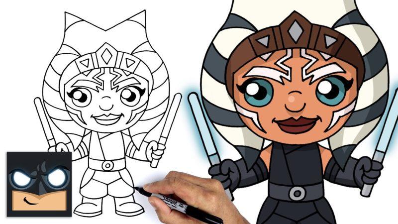 Como desenhar Ahsoka Tano. O mandaloriano