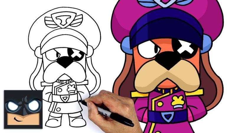 ブロスタからラフ大佐を描く方法