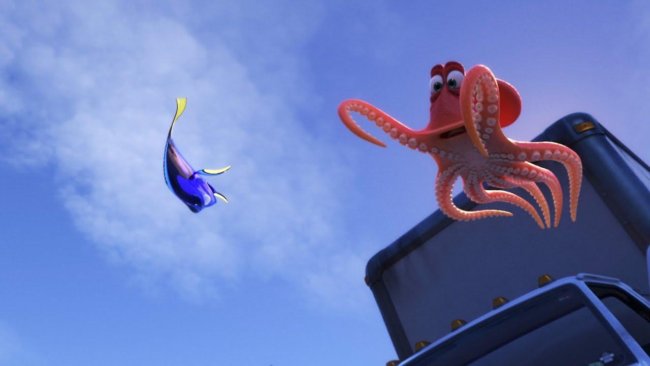 """Una clip dal film """"Alla ricerca di Dory"""" – Hank e Dory raggiungono l'Oceano"""