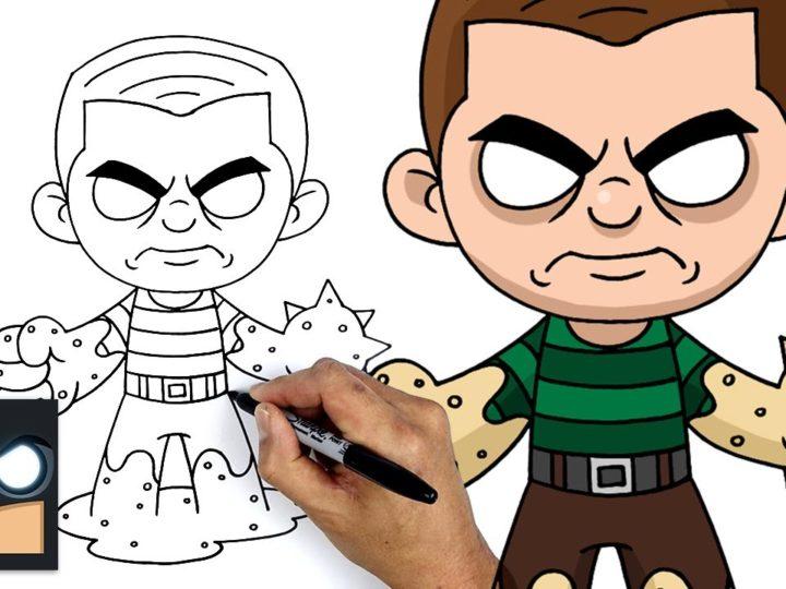 Como desenhar Sandman, o homem da areia do Homem-Aranha Homem-Aranha