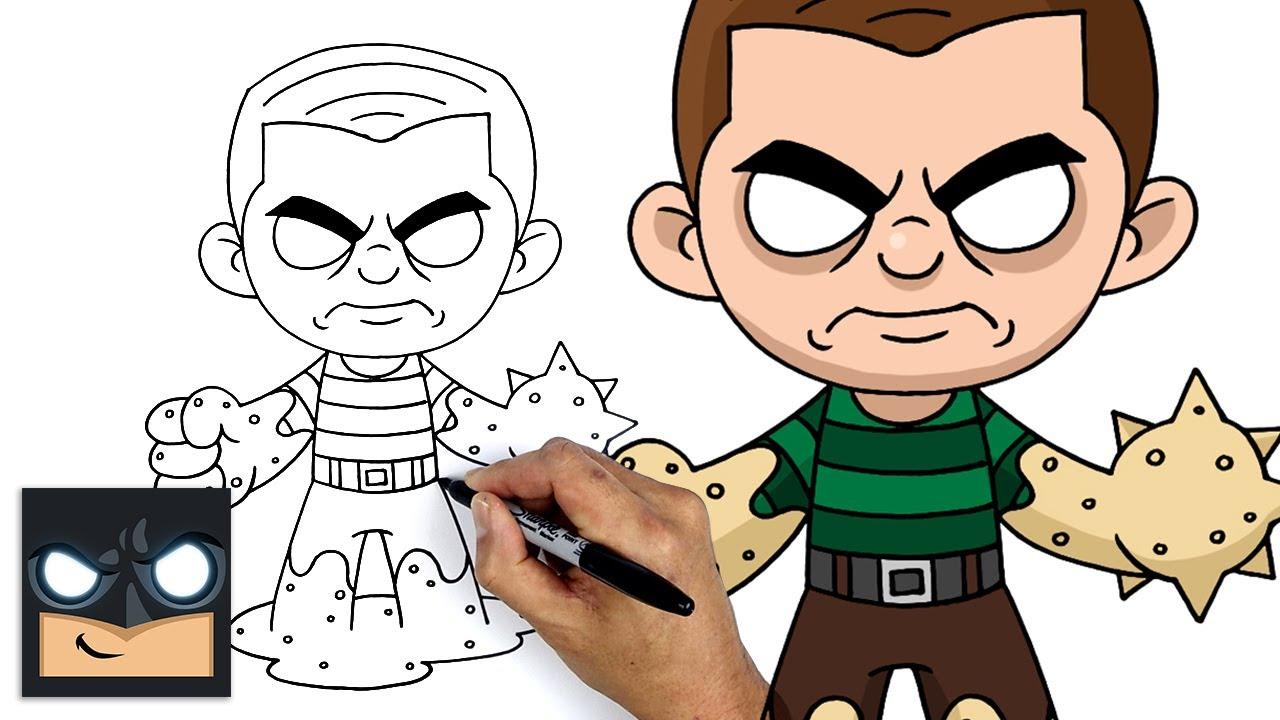 Come disegnare Sandman, l'uomo sabbia di Spider-Man l'Uomo Ragno