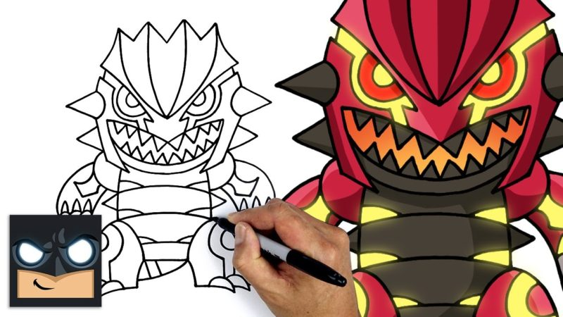Come disegnare Primal Groudon dei Pokemon