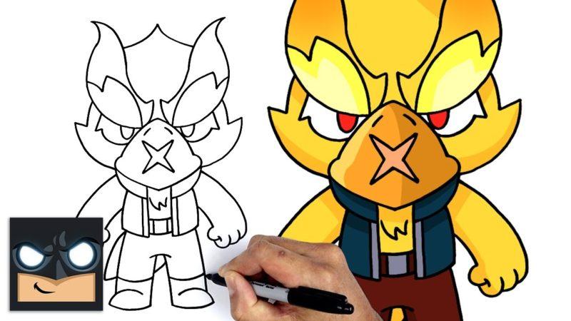 Come disegnare Phoenix Crow di Brawl Stars