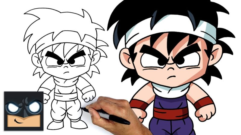 Hur man ritar baby Gohan från Dragon Ball Z