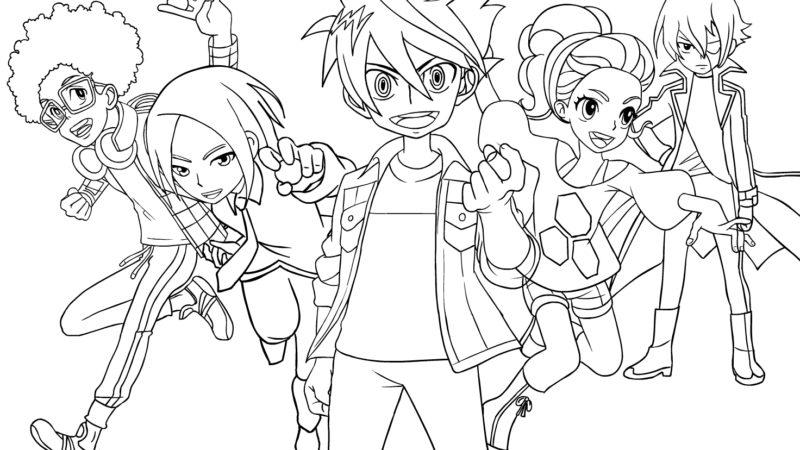 Disegni da colorare di Bakugan Battle Planet