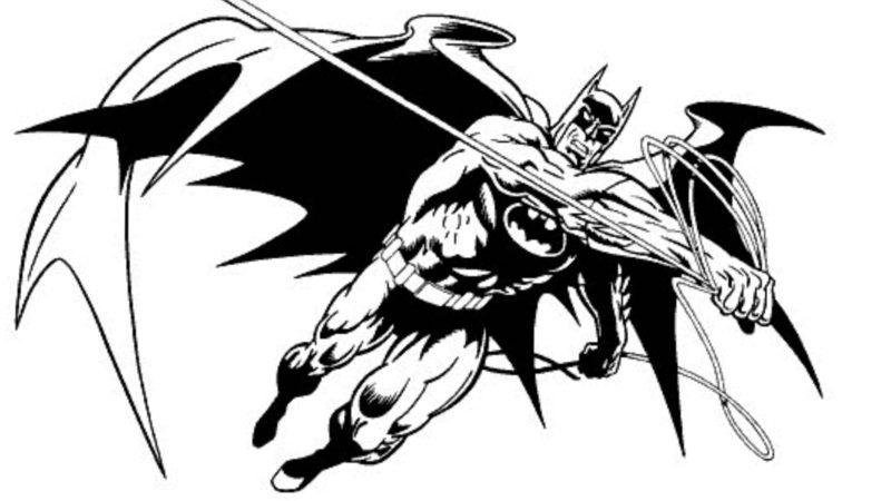 バットマンのぬり絵