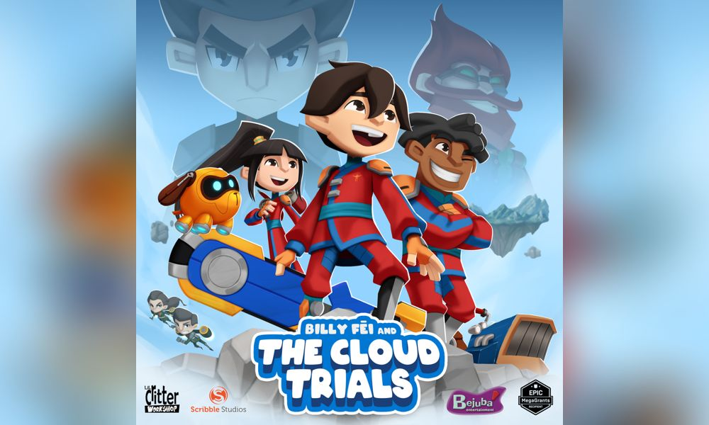 """Billy Fei and the Cloud Trials"", a série animada da Scribble Studios e Lil Critter Workshop"