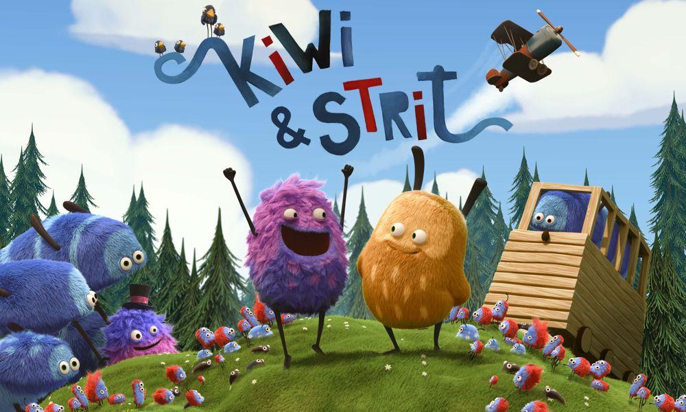 """""""Kiwi & Strit"""" la serie animata comica per bambini"""
