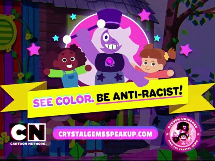 Tercera caricatura antirracismo de Crystal Gems de Steven Universe