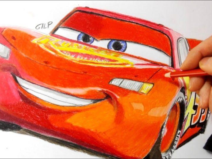 Come disegnare e colorare Saetta McQueen di Cars
