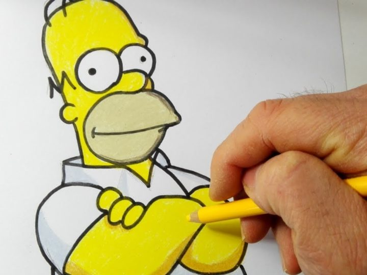 Come disegnare e colorare Homer Simpson