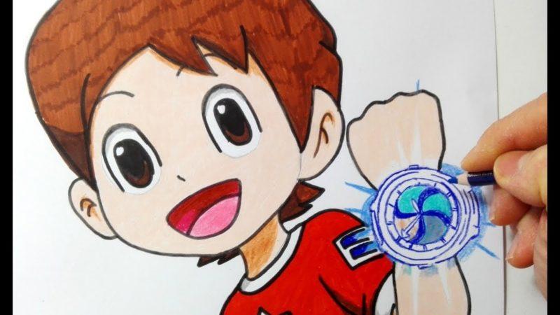 Como desenhar Nathan Adams do relógio Yo-kai