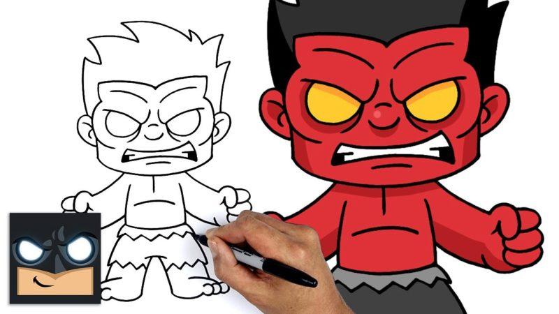 マーベルのスーパーヒーロー、レッドハルクの描き方