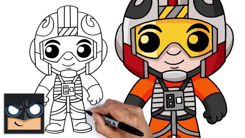 Come disegnare il pilota ribelle di Star Wars