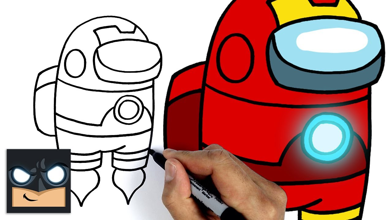Come disegnare Iron Man Crewmate di Among us