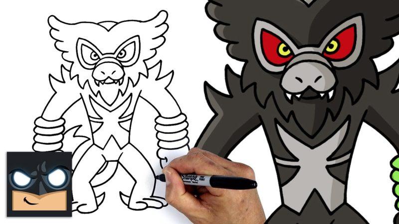 Jak narysować Zarude z Pokemona