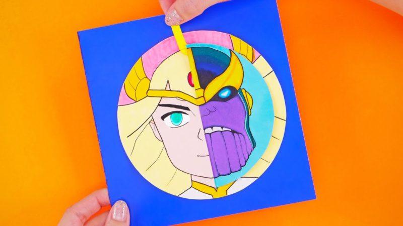 Hur man skapar kreativa DIY-spel med superhjältar och superskurkar (She-Ra vs Thanos)