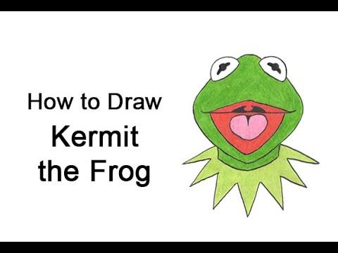 Come disegnare Kermit la rana dei Muppet Show