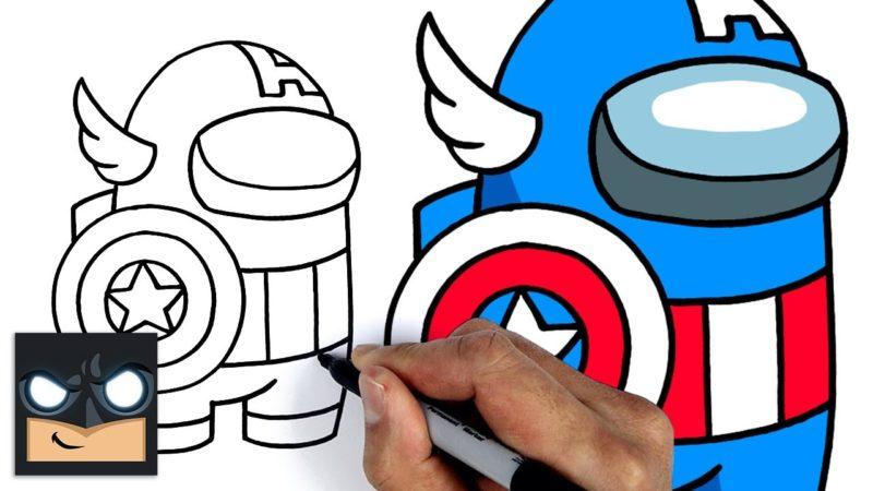 Come disegnare Capitan America | Among us