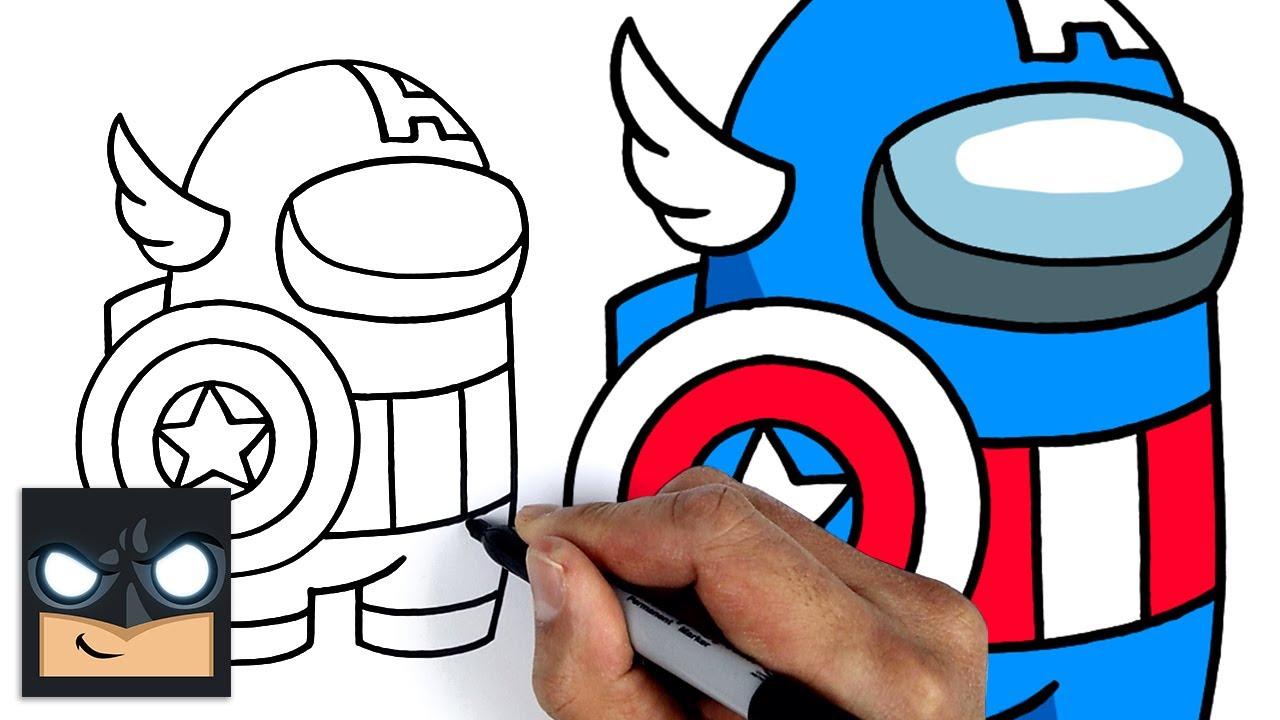 Come disegnare Capitan America   Among us