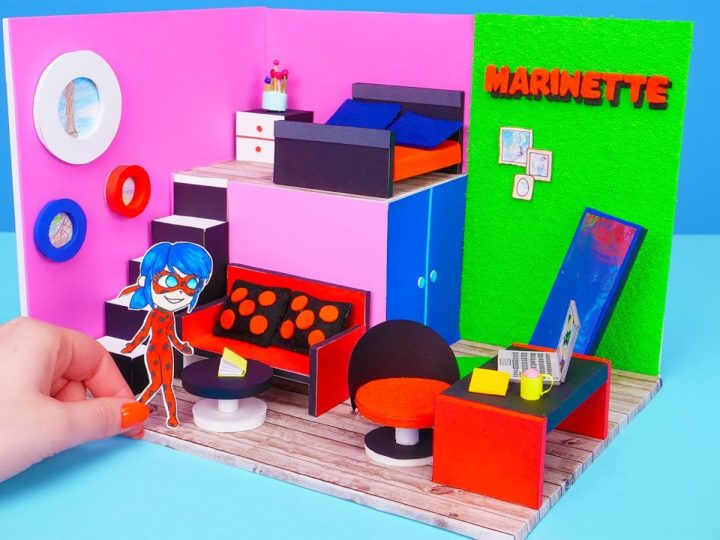 Come costruire una casa giocattolo di carta per Ladybugs e i Teen Titans