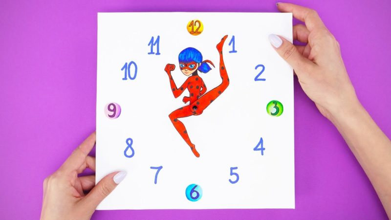 Hur man gör en anpassad väggklocka med Miraculous Ladybug