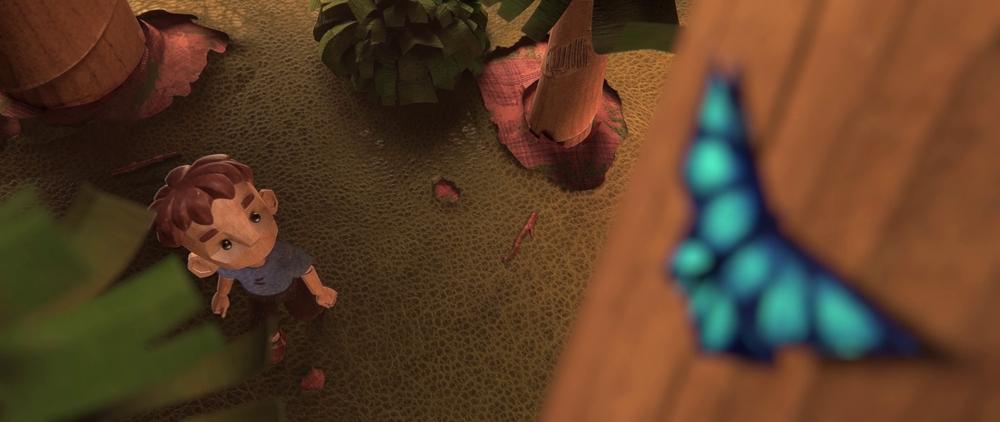 Ragazzo nel bosco. Credito fotografico: Hype Animation Studios