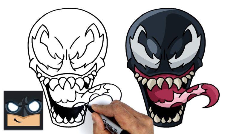 Come disegnare Venom | Tutorial passo dopo passo