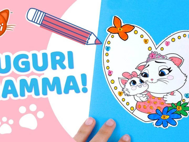 44 Gatti | Biglietto di auguri per la Festa della Mamma – Tutorial semplice per bambini