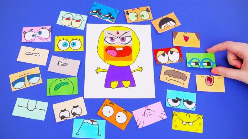 Costruisci giochi di carta con i personaggi dei cartoni