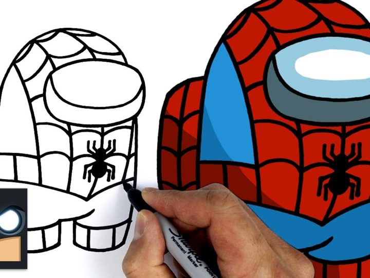 Come disegnare Spider-man Among us