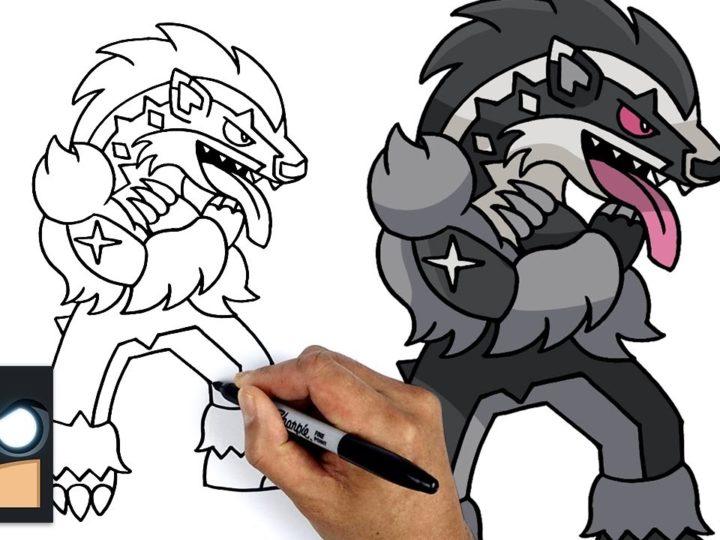 Come disegnare Obstagoon dei Pokemon