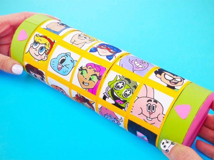 Come costruire un porta caramelle con i personaggi dei cartoni animati