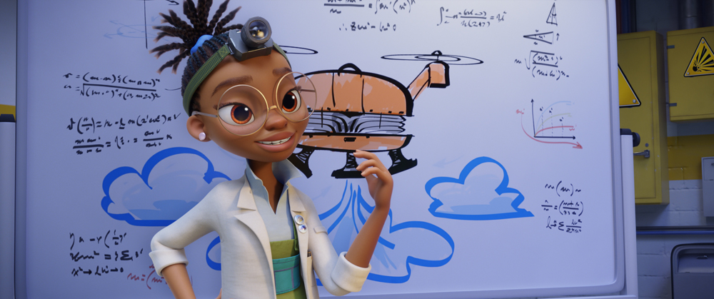 Kendra Wilson (Yara Shahidi) in PAW Patrol: The Movie, da Paramount Pictures. [Courtesy of Spin Master]