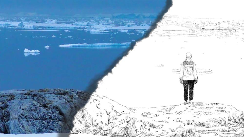 Vasta Antartide blu
