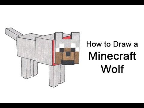 Come disegnare un lupo da Minecraft