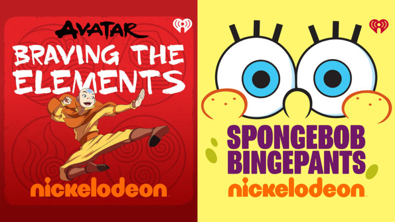"I podcast ""Avatar"" e ""SpongeBob"" sono in onda con Nick e iHeartRadio"