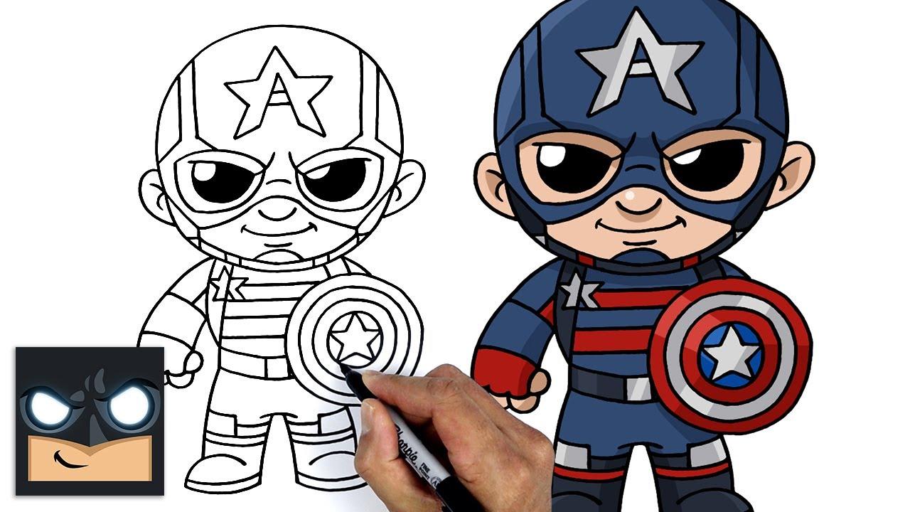 Come disegnare Capitan America | Falcon e Winter Soldier