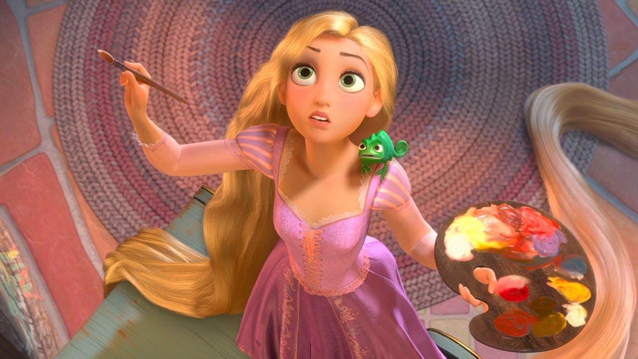 🎨  I colori per dipingere preferiti da Rapunzel   Disney Princess   Disney Junior IT