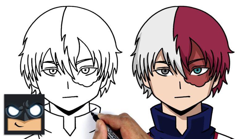 Come disegnare Shoto Todoroki | My Hero Academia || Tutorial di disegno anime passo dopo passo per principianti