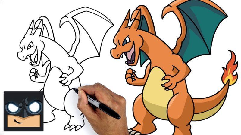 Come disegnare Pokemon | Charizard || Tutorial di disegno passo passo per principianti