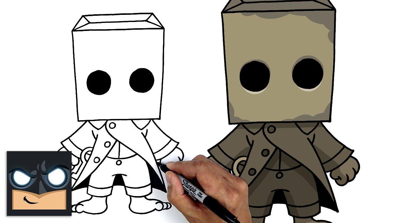 Come disegnare Mono | Little Nightmares || Tutorial di disegno passo dopo passo