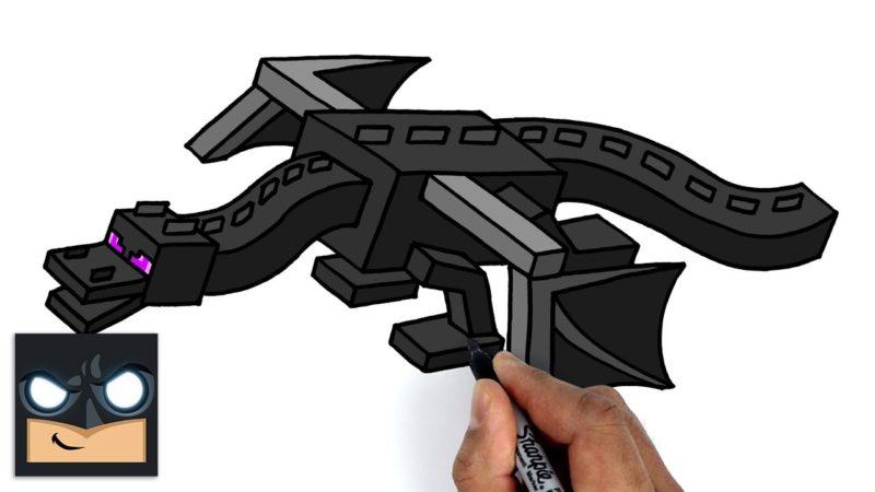 Come disegnare Minecraft | Ender Dragon