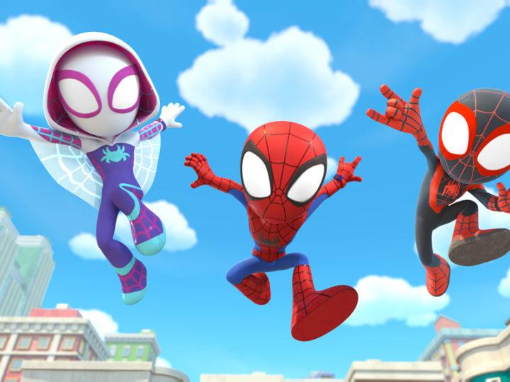 """Altalene """"Spidey e i suoi fantastici amici"""" di Disney Junior con il tema di Patrick Stump dei Fall Out Boy"""